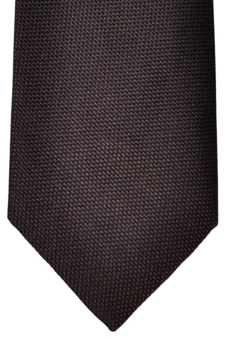 Zilli Tie Brown Black - Wide Necktie