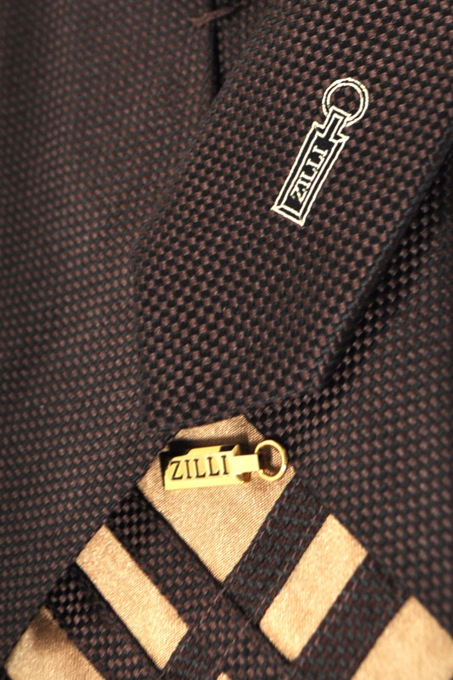 Zilli Tie Brown Black