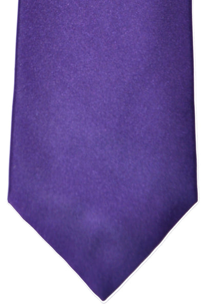 Zilli Tie Purple Solid - Wide Necktie