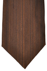 Zilli Tie Brown Stripes - Wide Necktie
