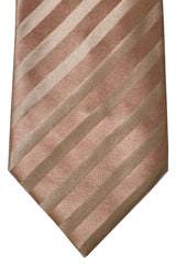 Zilli Tie Mocha Gold Stripes - Wide Necktie