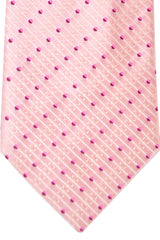Zilli Tie Pink Stripes - Wide Necktie