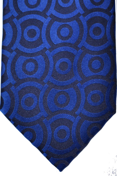 Zilli Tie Royal Blue Geometric - Wide Necktie