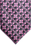 Zilli Tie Black Pink Blue Geometric - Wide Necktie