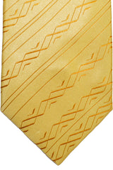Zilli Tie Gold Stripes - Wide Necktie