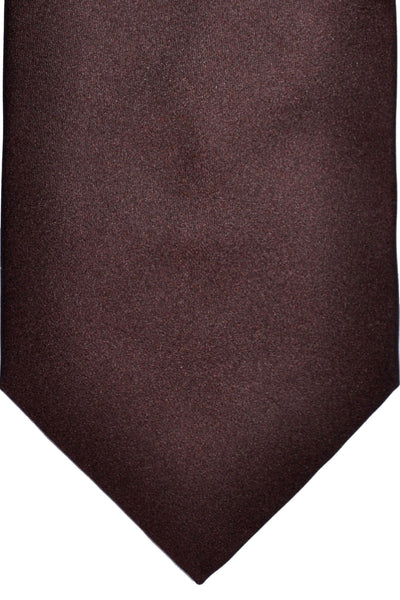 Zilli Tie Brown Solid - Wide Necktie