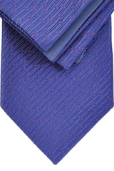 Zilli Tie & Pocket Square Set Purple Fuchsia Geometric