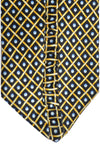 Zilli Tie Black Gold Blue Geometric - Wide Necktie