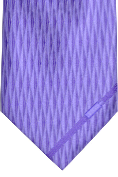 Zilli Tie Purple Diamonds - Wide Necktie