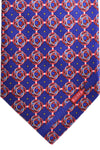 Zilli Tie Purple Red Pink Geometric - Wide Necktie