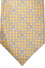 Zilli Tie Yellow Gold Silver Geometric - Wide Necktie
