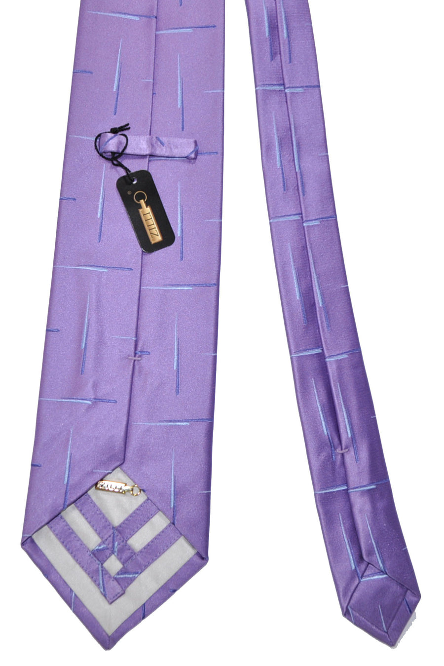Zilli Tie Lilac Blue - Wide Necktie BLACK FRIDAY SALE