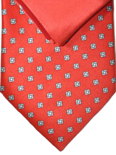 Zilli Tie & Pocket Square Set Red Gray Geometric