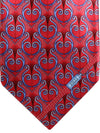 Zilli Tie Red Blue Ornamental Design - Wide Necktie