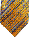 Zilli Tie Orange Purple Stripes Design - Wide Necktie
