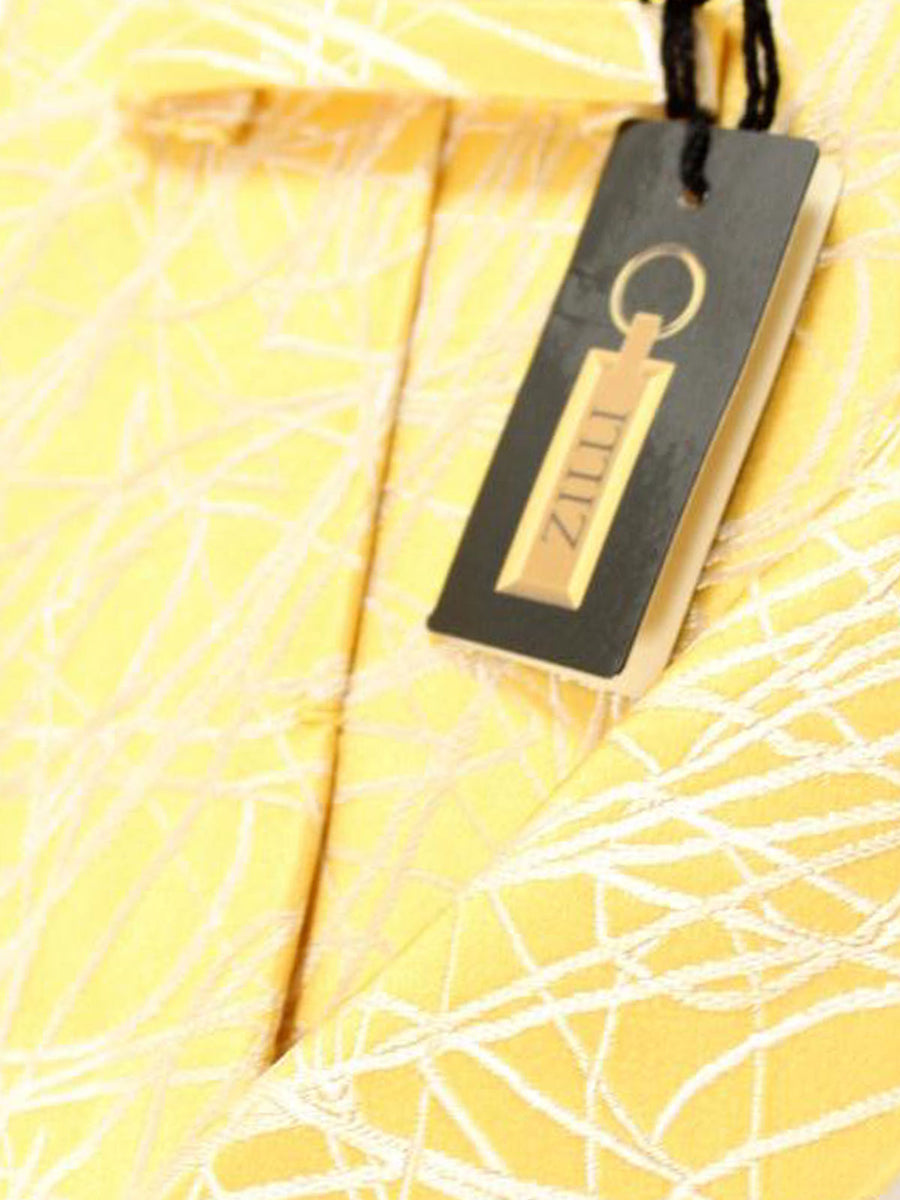 Zilli Tie Yellow Silver Design - Wide Necktie