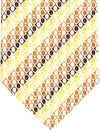 Zilli Silk Tie Cream Brown Geometric - Wide Necktie