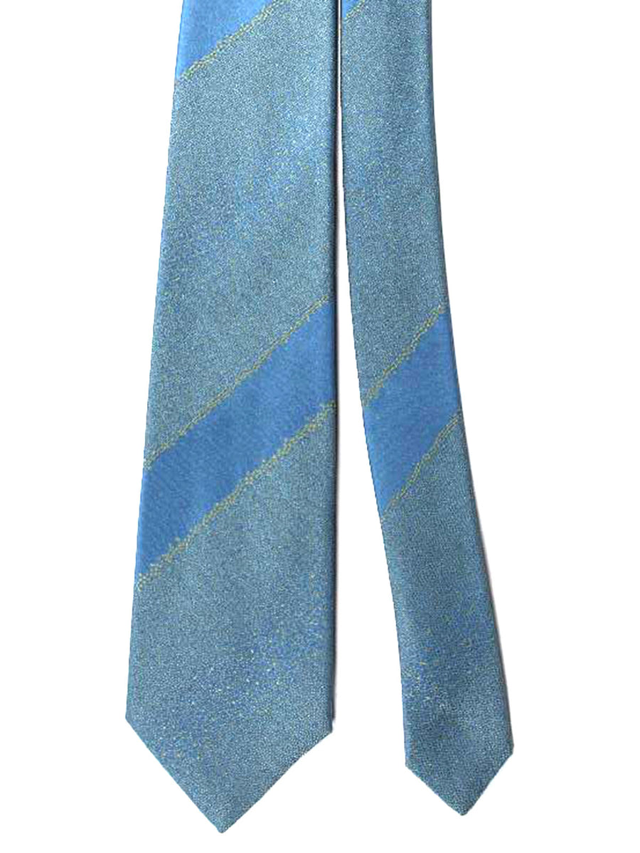 Zilli Extra Long Tie Blue Ceylon Stripes