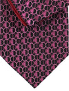 Zilli Tie & Pocket Square Set Purple Pink Geometric