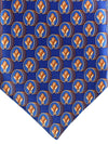 Zilli Tie Royal Orange Bees Design - Wide Necktie