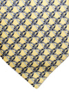Zilli Silk Tie Yellow Gray Rings Design