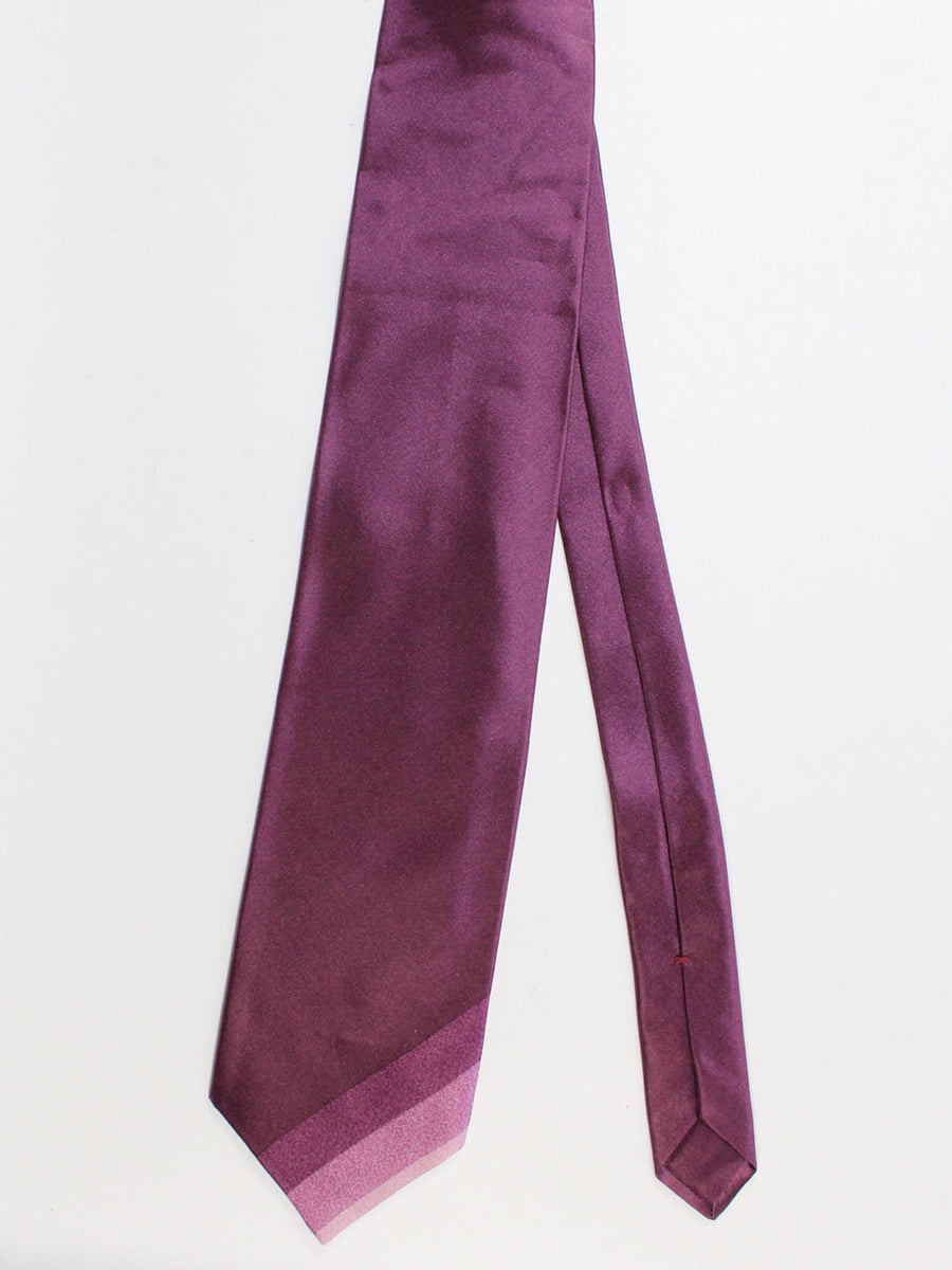 Zilli Extra Long Tie Purple Stripes