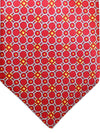 Zilli Tie Red Gray Orange Geometric Design - Wide Necktie