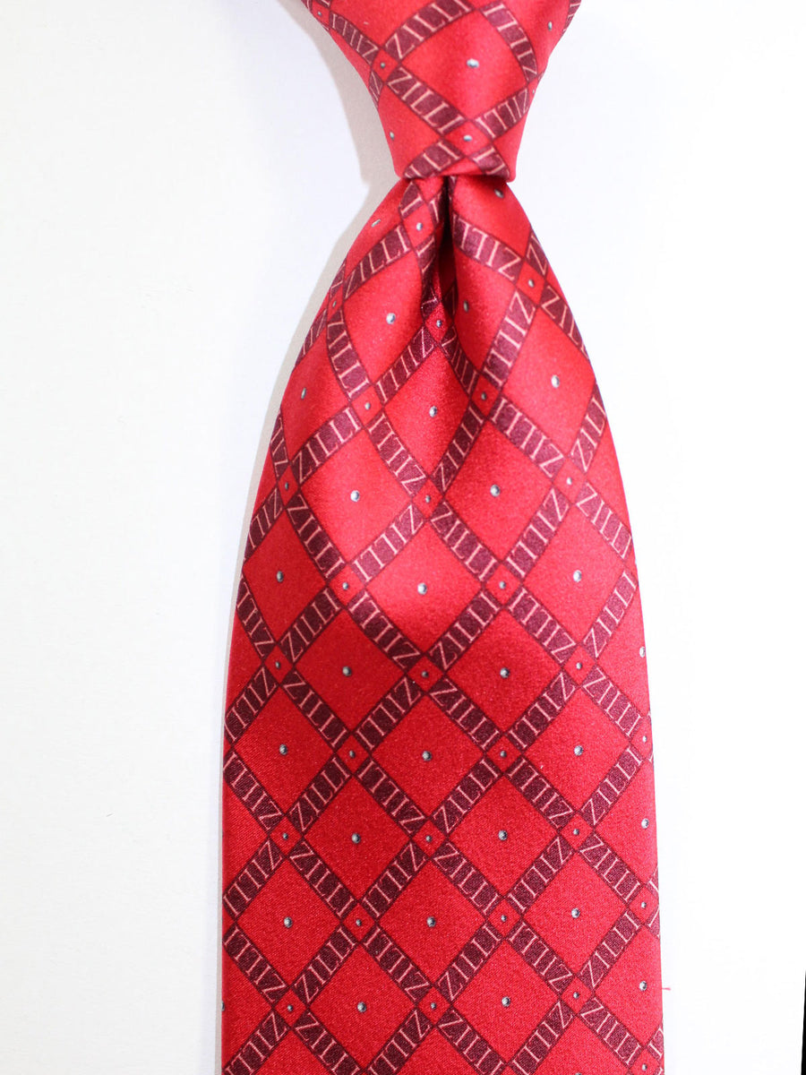 Zilli Tie Red Logo Design - Wide Necktie