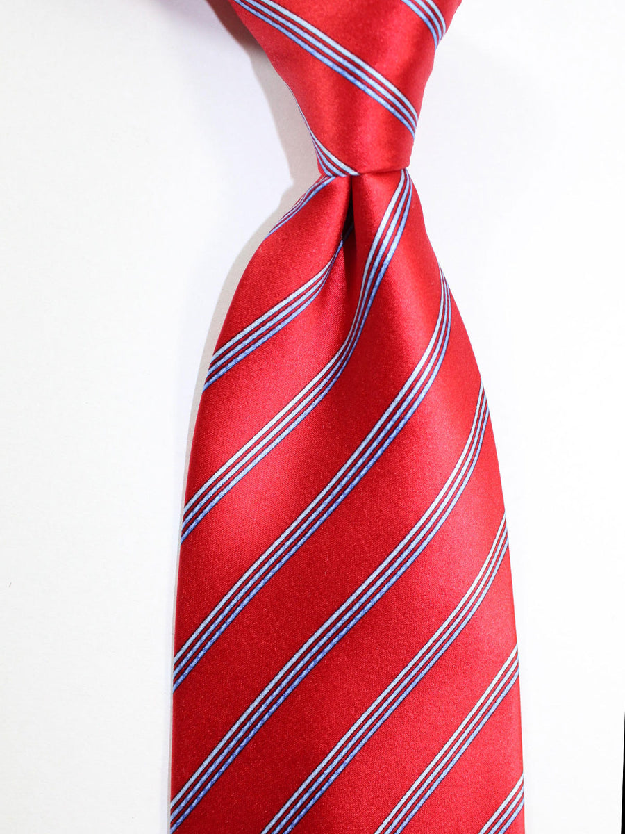 Zilli Tie Red Blue Stripes Design - Wide Necktie