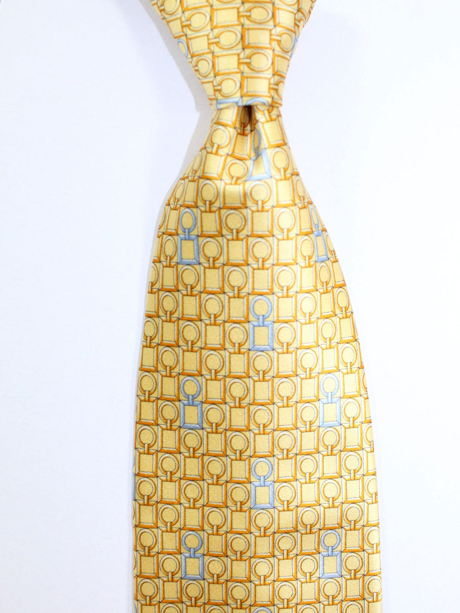 Zilli Tie Yellow Gold Geometric Design - Wide Necktie