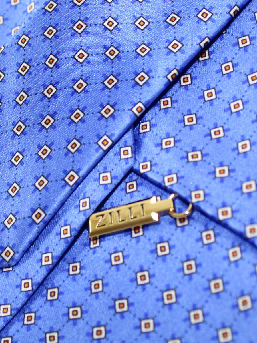 Zilli Tie Blue Geometric Design