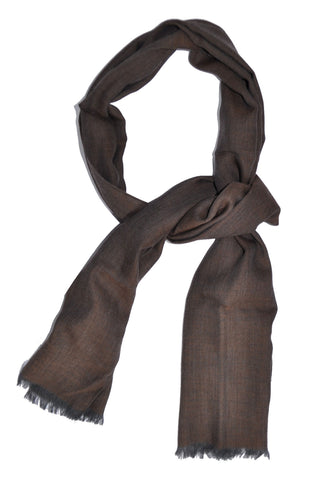 Pal Zileri Scarf Taupe Copper Gray Wool Shawl FINAL SALE