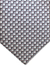 Zilli Tie Gray Geometric Design - Wide Necktie