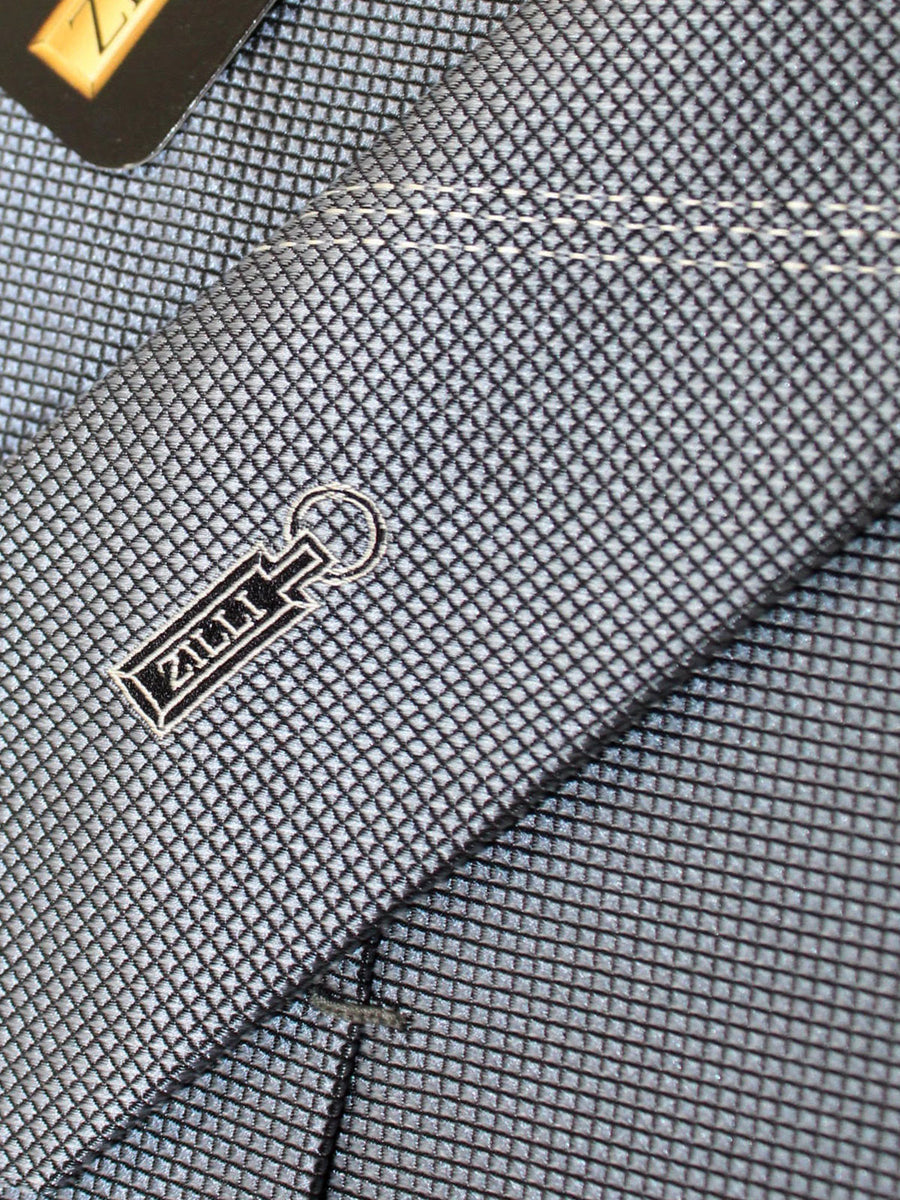 Zilli Silk Tie Gray Grid - Wide Necktie