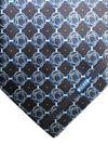 Zilli Silk Tie Gray Blue Geometric - Wide Necktie