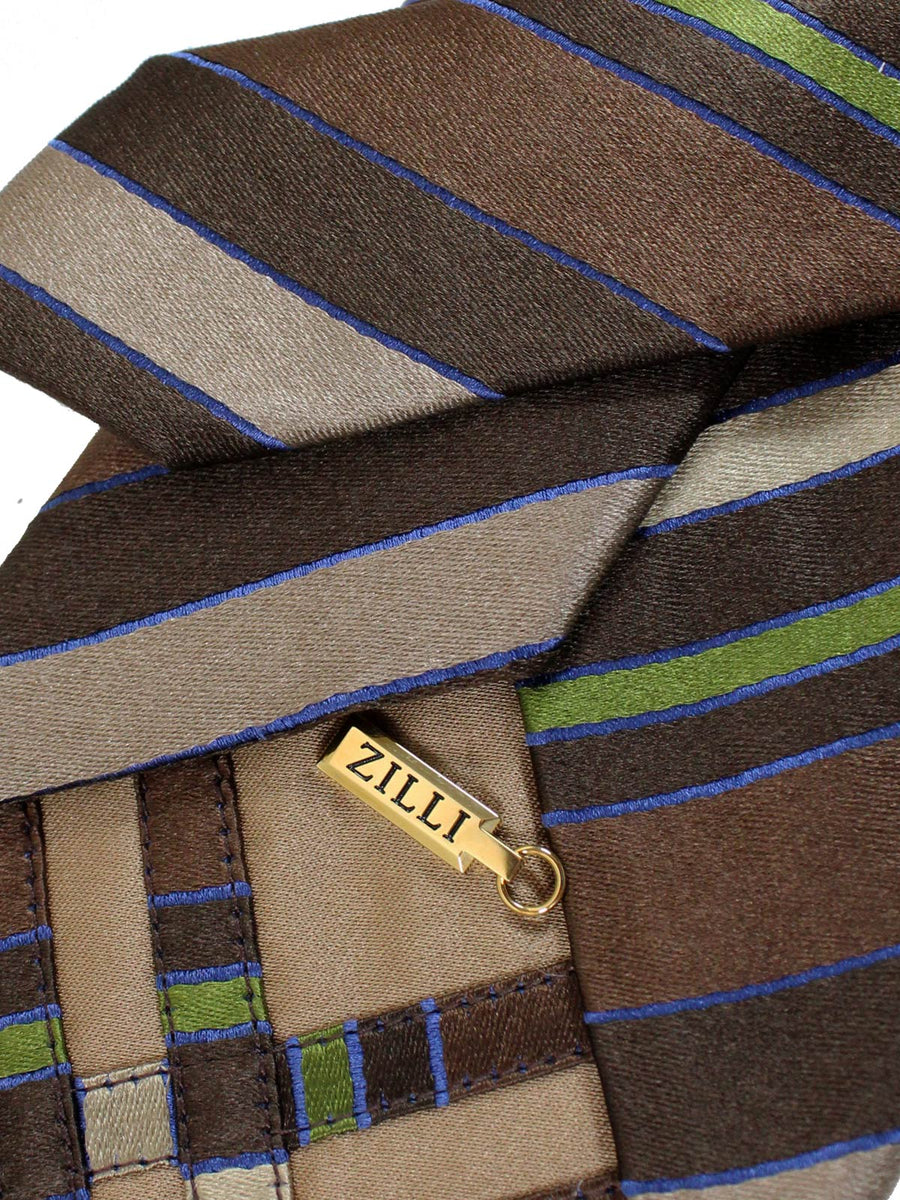 Zilli Tie Brown Stripes Zilli Paris