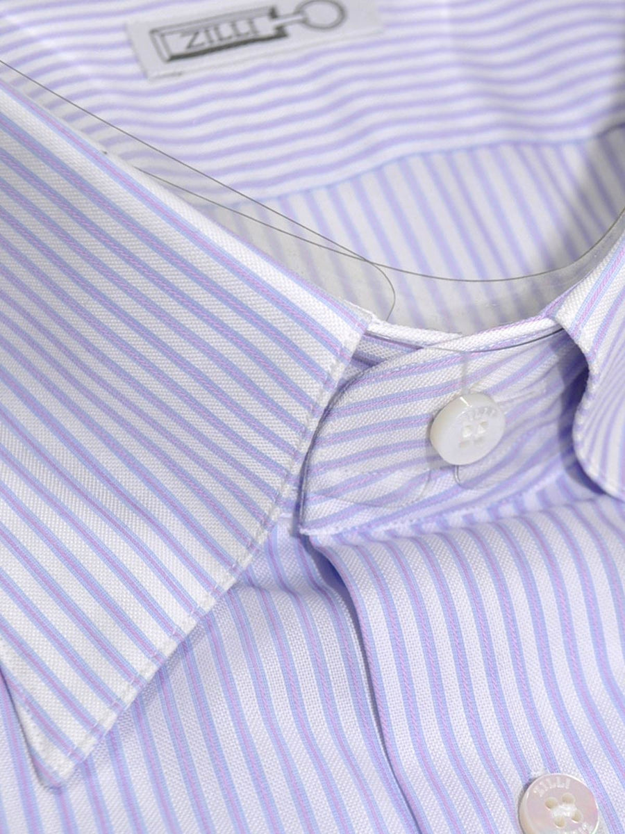Zilli Shirt Lavender Pink Stripes Dress Shirt