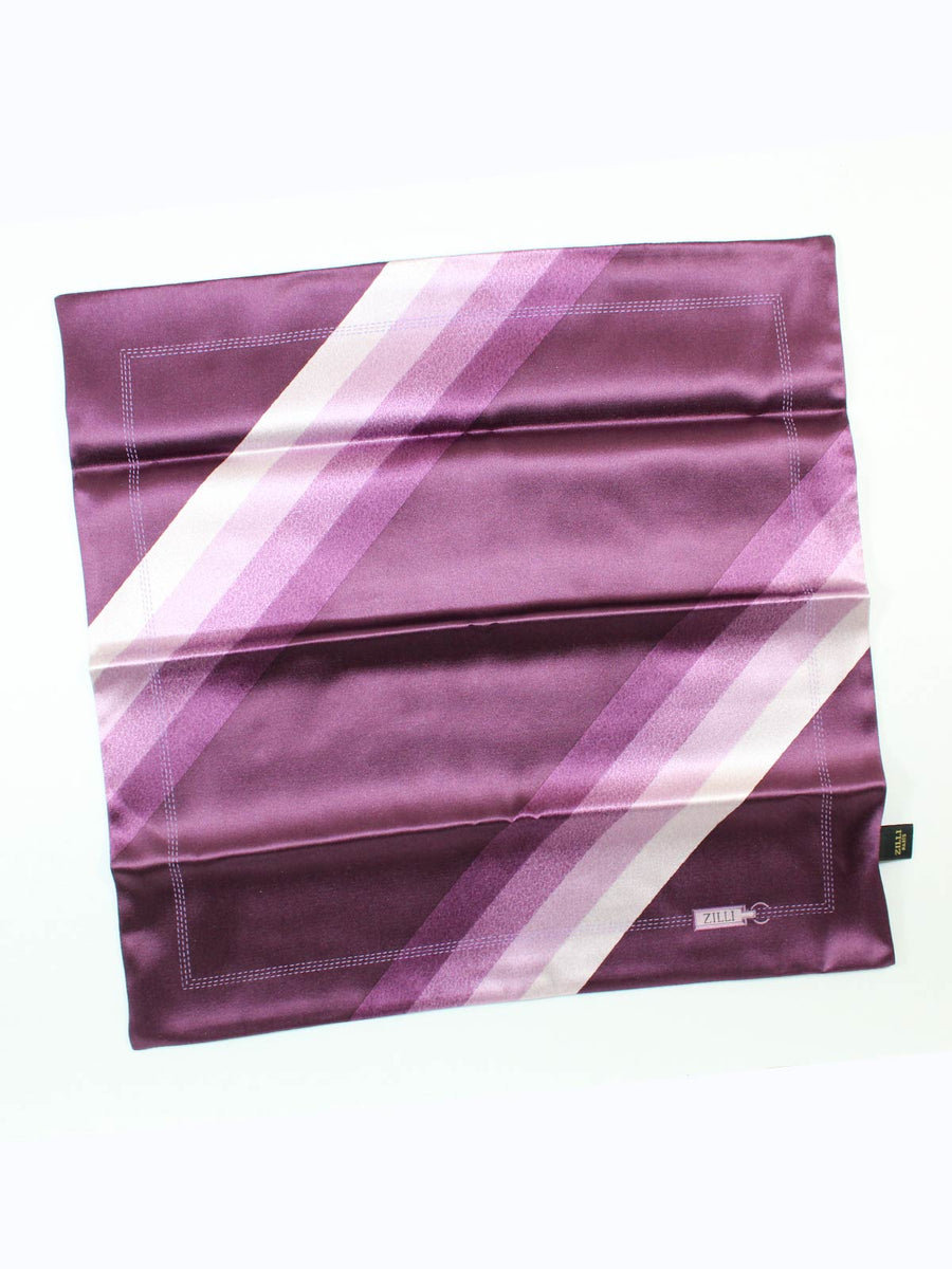 New Zilli Pocket Square Purple Pink SALE