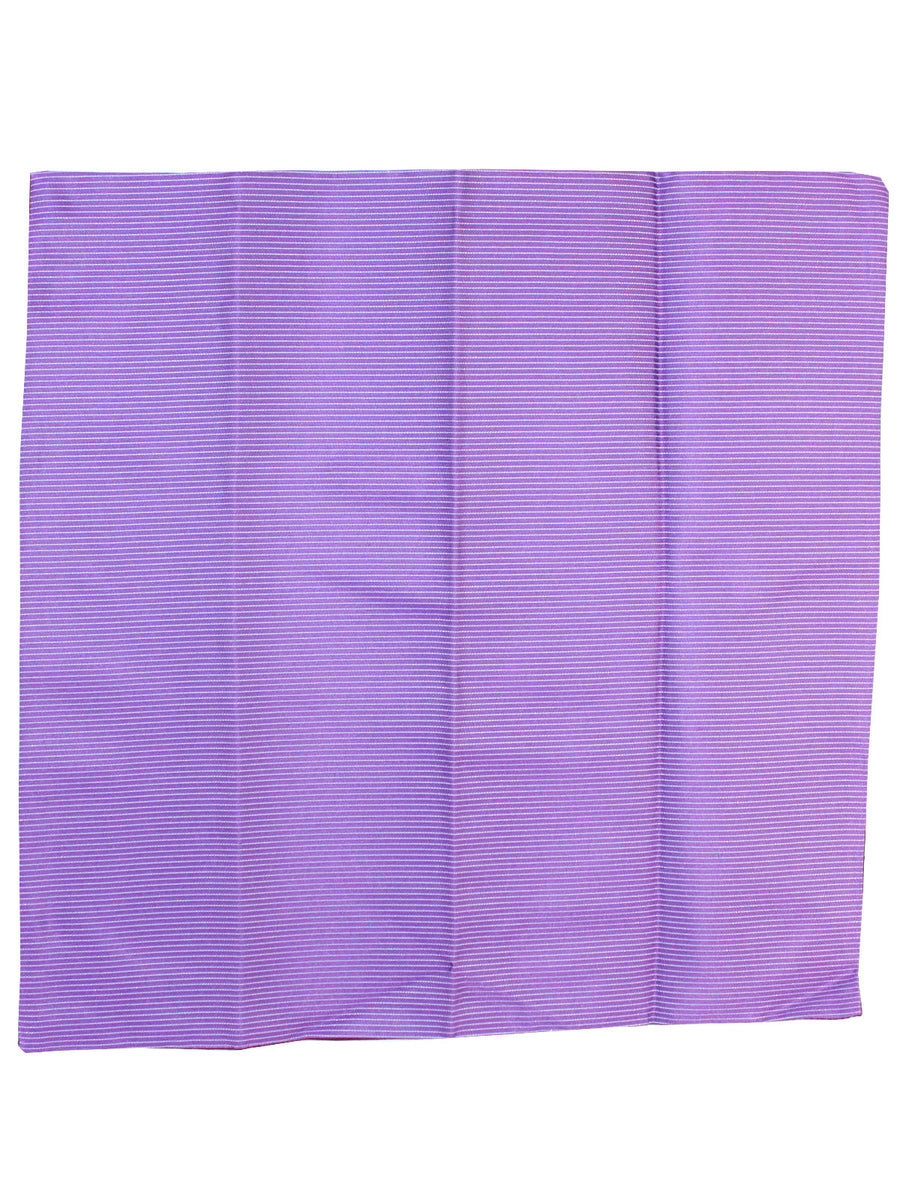 Zilli Silk Pocket Square Purple Stripes Design
