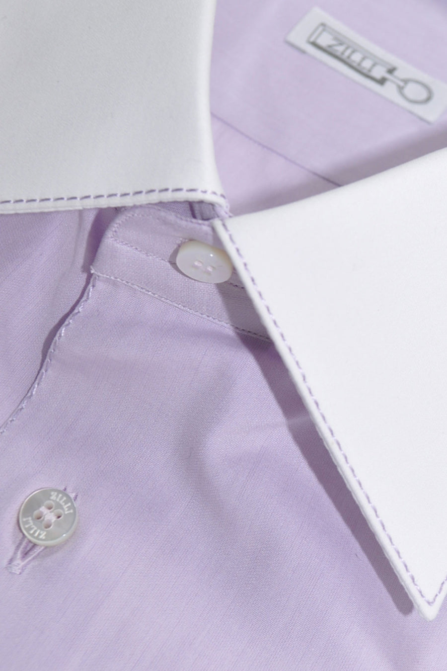 Zilli Shirt Lavender Men Dress Shirt 44 - 17 1/2