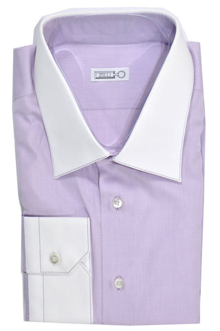 Zilli Shirt Lavender Men Dress Shirt 44 - 17 1/2 SALE