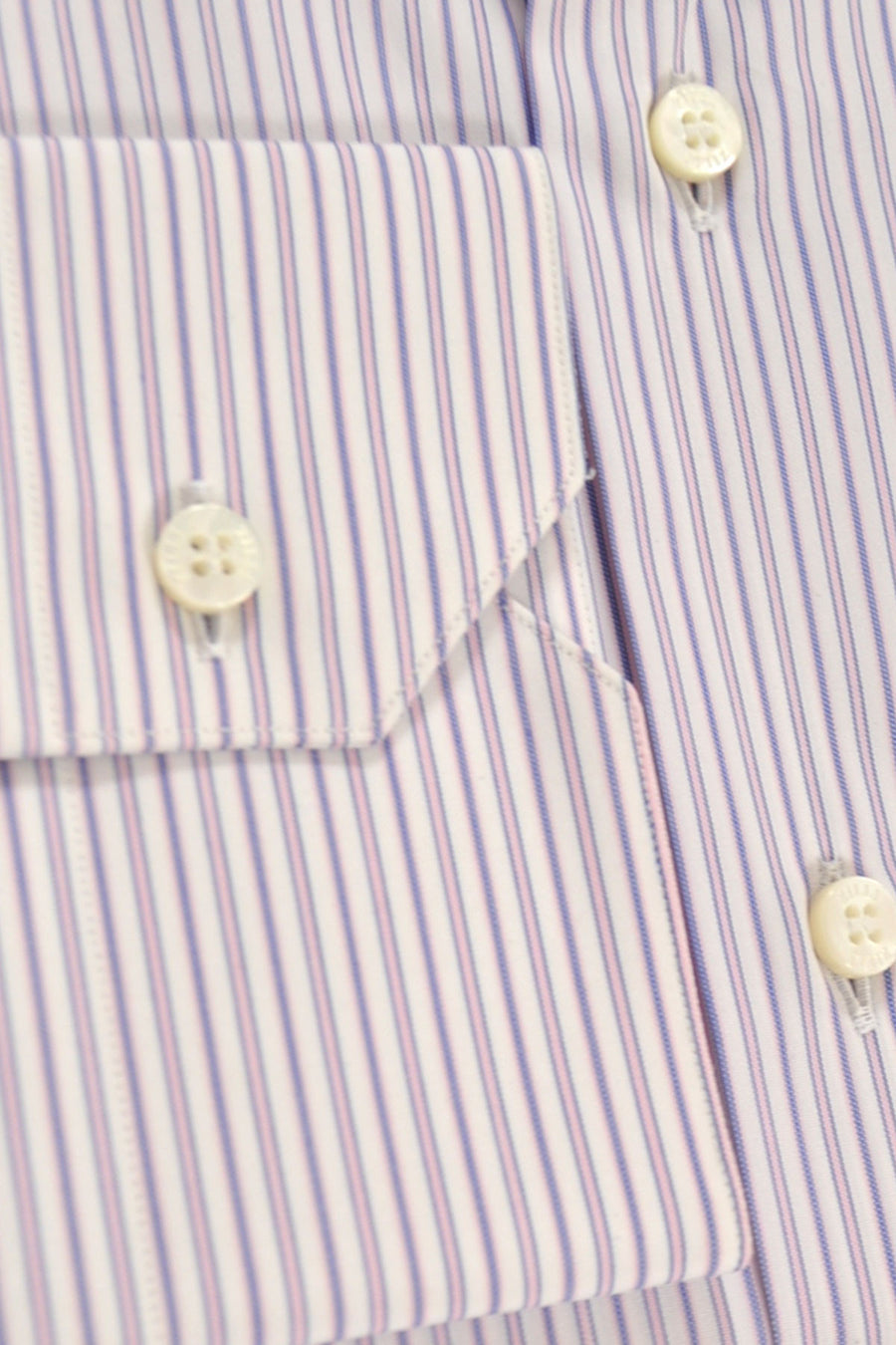 Zilli Shirt White Pink Plum Stripes