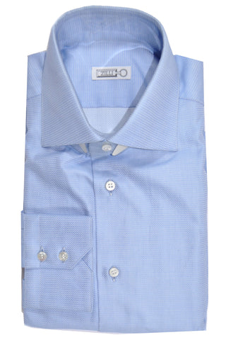Zilli Shirt Periwinkle Gray Spread Collar 38 - 15 SALE