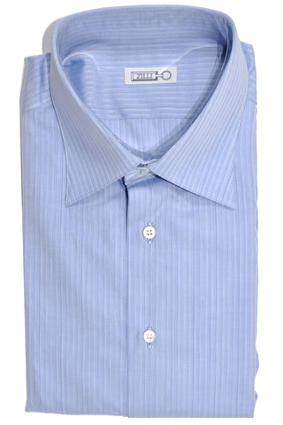 Zilli Shirt Blue Stripes Hand Made In Italy 40 - 15 3/4