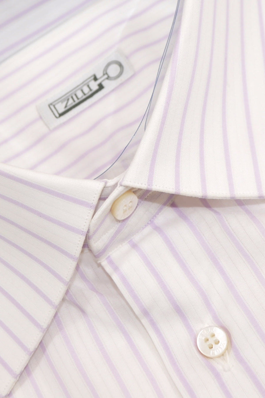 Zilli Shirt White Lilac Stripes