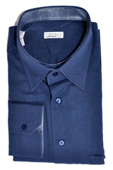 Zilli Shirt Navy Cashmere Cotton