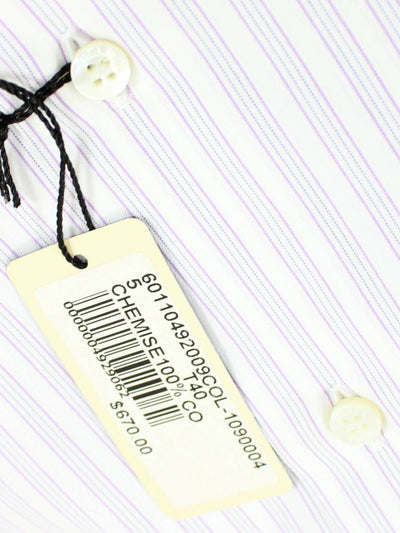 Zilli Dress Shirt White Lilac