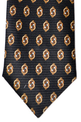Zilli Tie Black Brown Gold - Sevenfold Necktie