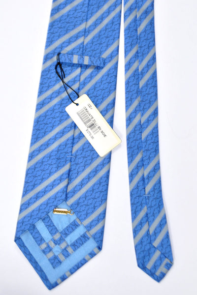 Zilli Tie Blue Gray Stripes - Wide Necktie SALE