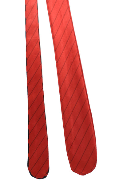 Zilli Tie Rust Orange Black Stripes Special Edition 2 Sided